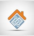 icon smart home vector image