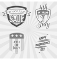 Independence Day 4th of July Labels Collection vector image