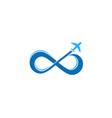 infinite travel logo icon design vector image