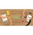 loan finance application analyze data business vector image