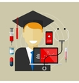 medical health college education class graduate vector image
