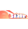 mix race businesspeople team holding economic vector image vector image