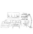 Modern interior room sketch S vector image vector image