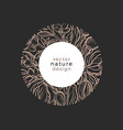 nature in circle flora organic plant vector image vector image