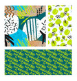 neon green textile grunge background abstract vector image