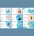 online education and webinar time management vector image