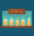 orange raw fruit smoothie cocktail set vector image