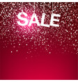 red greeting snowfall sale vector image