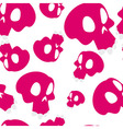 Red skulls seamless vector image