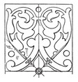 renaissance oblong panel is a design found on a vector image vector image