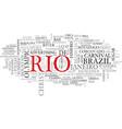 rio word cloud concept vector image vector image
