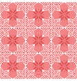 seamless geometric snowflake pattern vector image vector image