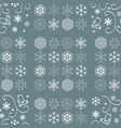 seamless pattern with snowflakes winter vector image vector image