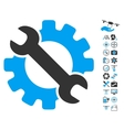 Service Tools Icon With Copter Tools Bonus vector image