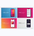 set of mobile ui design concepts bank interface vector image