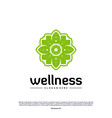 set of wellness logo design concept nature leaf vector image vector image