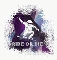 Snowboard icon design vector image vector image