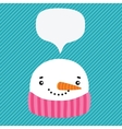 snowman with speech bubble vector image vector image