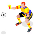 Soccer Goalkeeper 2016 Sports Isometric vector image vector image
