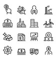 stock market stock exchange icon in thin line vector image vector image