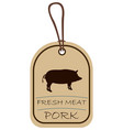string tag meat label pork vector image