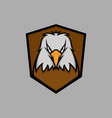 white head eagle mascot logo vector image