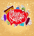winter holidays template vector image