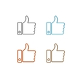 Thumbs up like modern icon flat design vector image