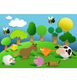 cartoon farm animals vector image