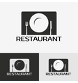 Label of the restaurant vector image