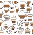 pattern set collection glass jar coffee drink icon vector image