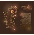 Arabic Coffee Template vector image