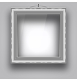 Empty frame on the wall for a picture or photo vector image