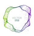 Abstract technology polygonal circle Futuristic vector image vector image