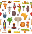 african culture characters in traditional vector image vector image