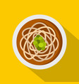 asian noodles icon flat style vector image vector image