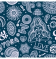 Beautiful seamless yoga pattern with ornaments