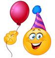 Birthday emoticon with balloon