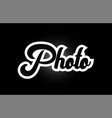 black and white photo hand written word text for vector image