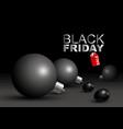 black friday sale design of big christmas ball vector image vector image