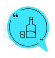 black line tequila bottle and shot glass icon vector image vector image