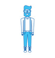 blue icon body man vector image vector image