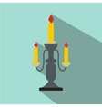 Candlestick lamp flat icon vector image vector image