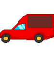 car in pixel style vector image