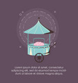 carnival circus food cotton booth retro vector image vector image