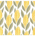 corn cob maize seamless pattern vector image vector image