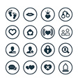 couple love icons universal set vector image vector image