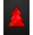 Creative Christmas tree cut in black background vector image vector image