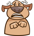 crying dog cartoon vector image vector image