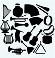Different music instruments vector image vector image